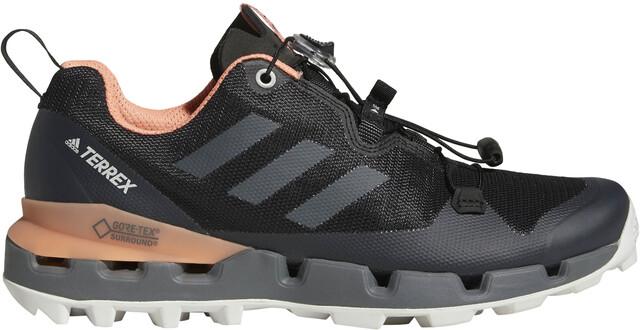 adidas TERREX Fast GTX-Surround Schoenen Dames, core black/grey five/chalk  coral